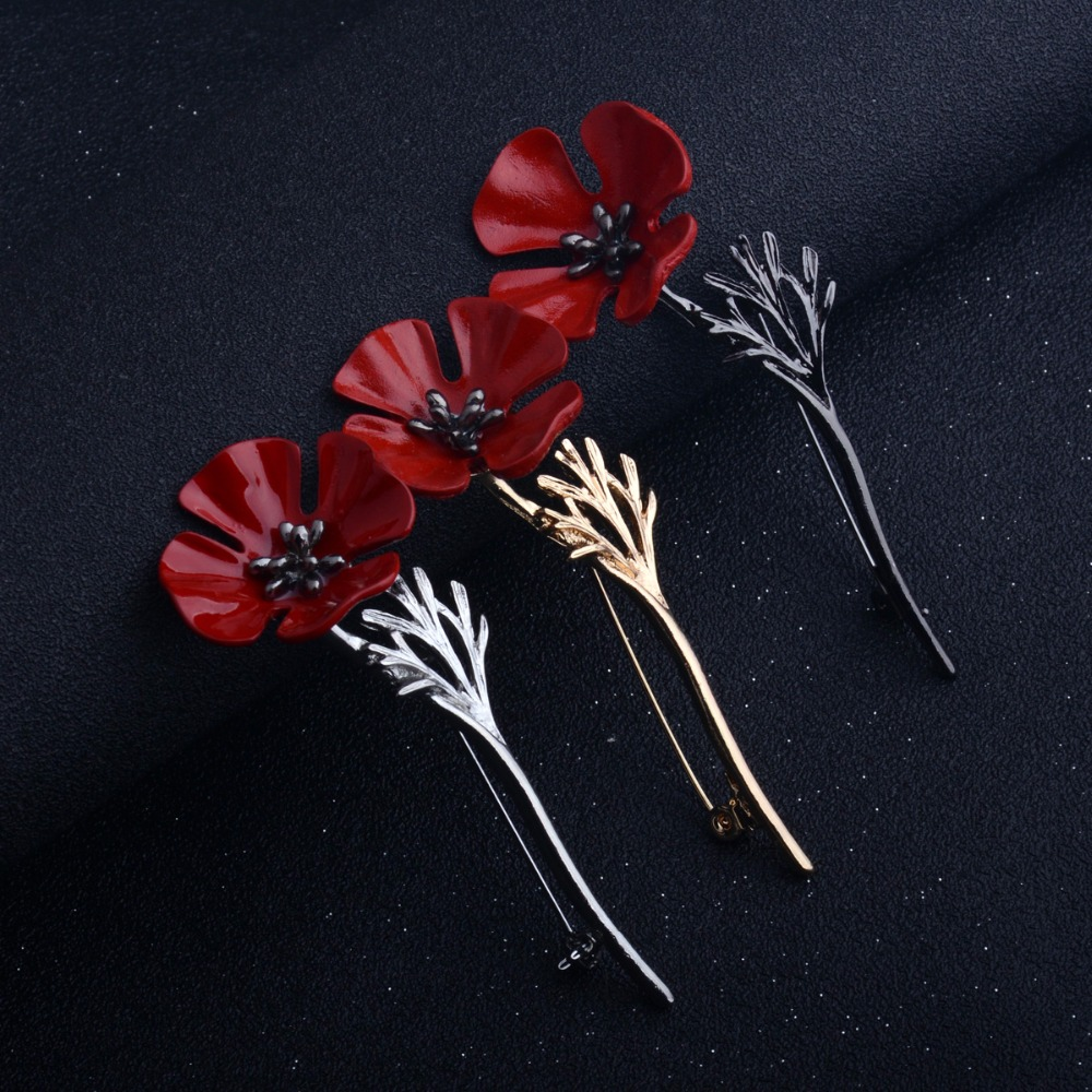 Bespmosp Flower Brooches Women Men Badge Jewelry