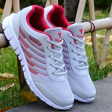 Couple sneakers men shoes 2019 fashion breathable mesh sport