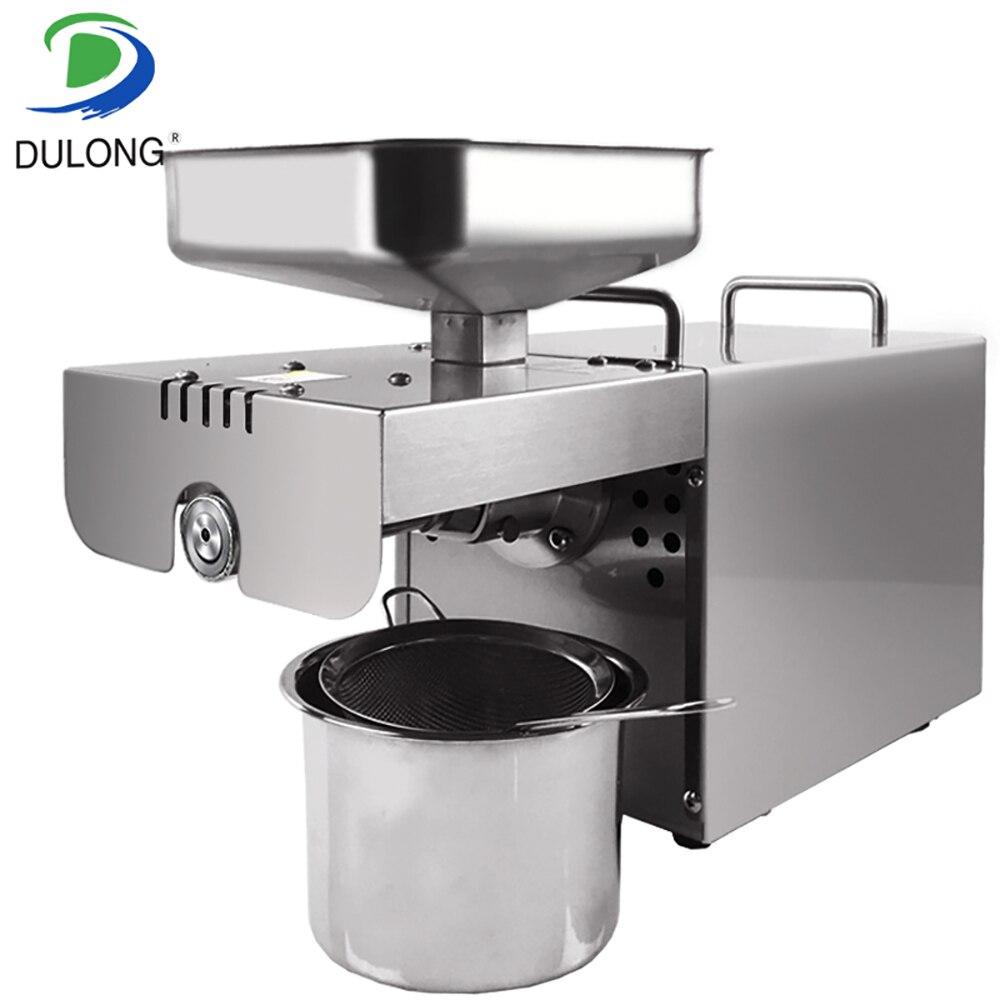 Acier inoxydable Automatique Petite Graine machine d'extraction d'huile, l'huile pressée à Froid expulseur, Arachide presse à huile machine pour la maison