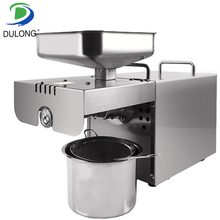 Нержавеющая сталь автоматическое Малый масло семян машина, вытяжка, масло холодного отжима жмых, арахисовое масло пресс-машина для дома