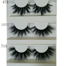 297bc1e5f66 100% Mink Eyelashes False Eyelashes Crisscross Natural Fake lashes Length  25mm Makeup 3D Mink Lashes
