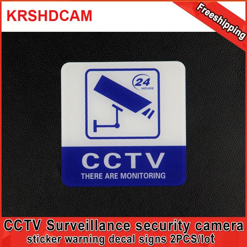 2 шт. Стикеры Предупреждение наклейка признаки домой видеонаблюдения Камера