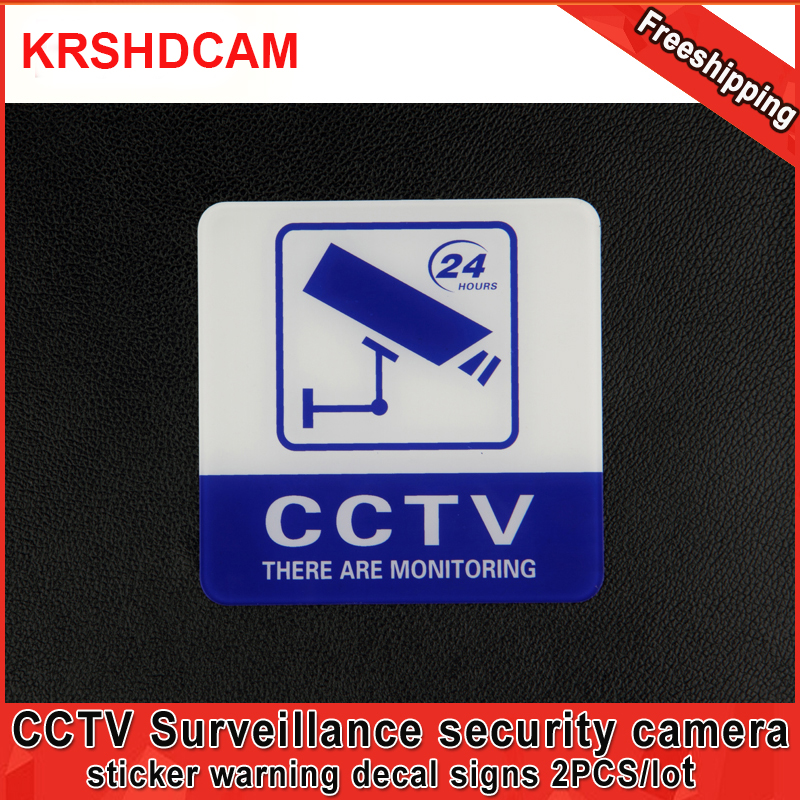 2pcs Sticker Warning Decal Signs Home CCTV Surveillance Security Camera new safurance 10pcs lot waterproof sunscreen pvc home cctv video surveillance security camera alarm sticker warning decal signs
