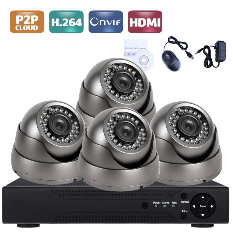 4CH AHD 5 IN 1 Security DVR System HDMI 1280X720P AHD Weatherproof Outdoor CCTV Camera 1.0MP Full Metal AHD Surveillance Kit4CH AHD 5 IN 1 Security DVR System HDMI 1280X720P AHD Weatherproof Outdoor CCTV Camera 1.0MP Full Metal AHD Surveillance Kit