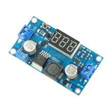 DC-DC xl6009 módulo de fonte de alimentação, boost digital, ajustável, 4.5-32 v, para 5-52 v, passo regulador de tensão com voltímetro led