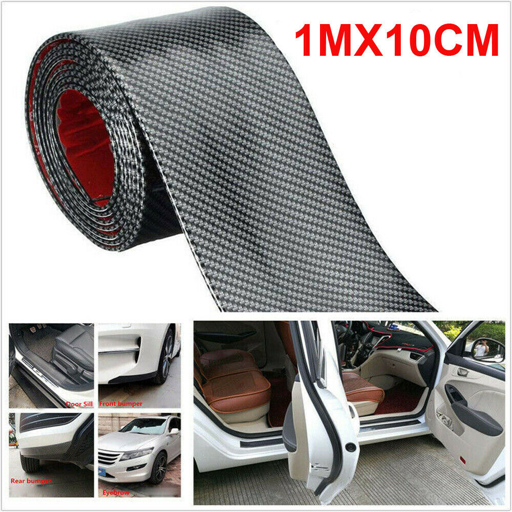 Image 3 - Car Sticker 1M*10CM Carbon Fiber Rubber DIY Door Sill Protector Edge Guard Strip for Ford BMW Chevrolet Honda GMC Car Sticker-in Car Stickers from Automobiles & Motorcycles