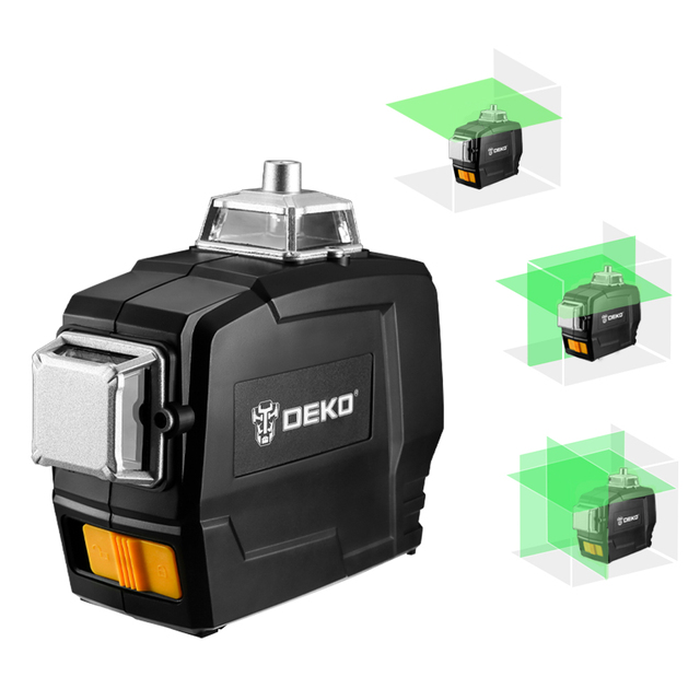 DEKO DC Series 12 Lines 3D Green Laser Level Horizontal And Vertical Cross Lines With Auto Self-Leveling, Indoors and Outdoors 4