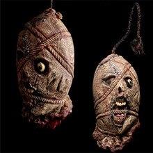 Хэллоуин пугало парик натуральный латекс маска человеческая голова карнавальных последний берсерка бар Halloween Party scarrecrow украшения