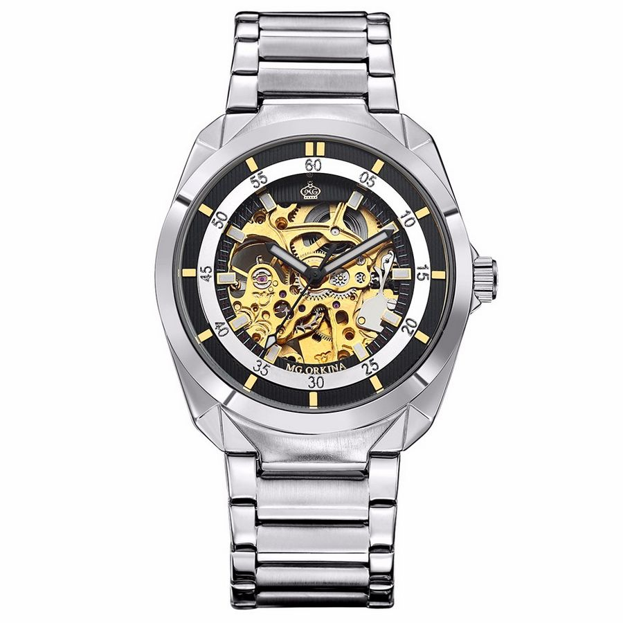 hollow luxury skeleton logo forsining watches engraving mechanical products