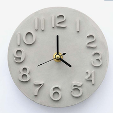 Home Made Decoration Craft Concrete Clock Mold DIY Roman Letter Wall