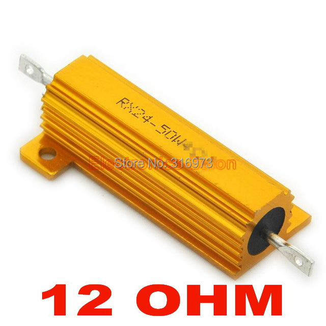20 pcs lot) 12 ohm 50w wirewound aluminum housed resistor, 50 watts