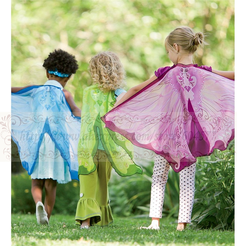 Costumes Christmas-Gifts Halloween Fairy-Wings Play Kids Girls for Dress-Up-Clothes Pretend