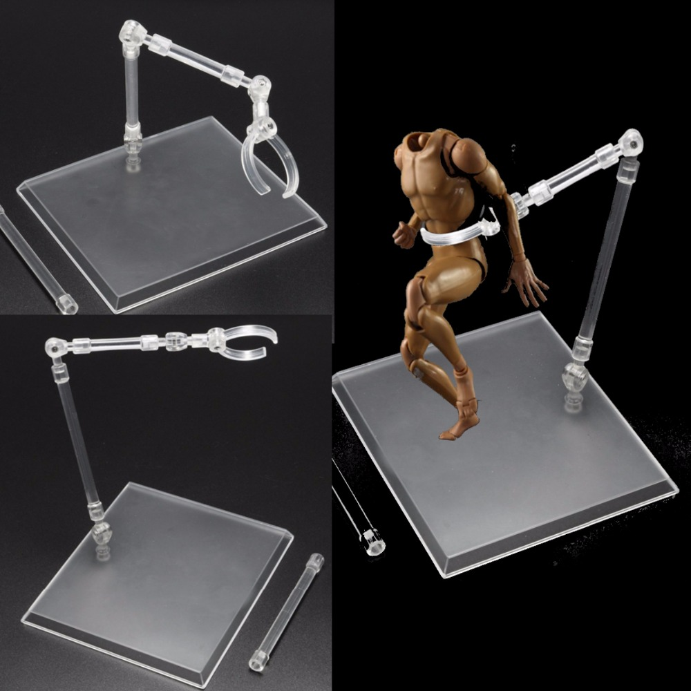 Hot Sale Acrylic materials Action Base Suitable Display Stand for 1/144 HG/RG Gundam/Figure+Hook Blue Transparent Movable Bracke hot sale c shaped waterfall acrylic occasional side table