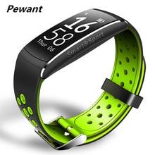 Pewant Q8 Водонепроницаемый Smart Браслет монитор сердечного ритма фитнес-трекер умный группа с Будильник Facebook Twitter напоминание
