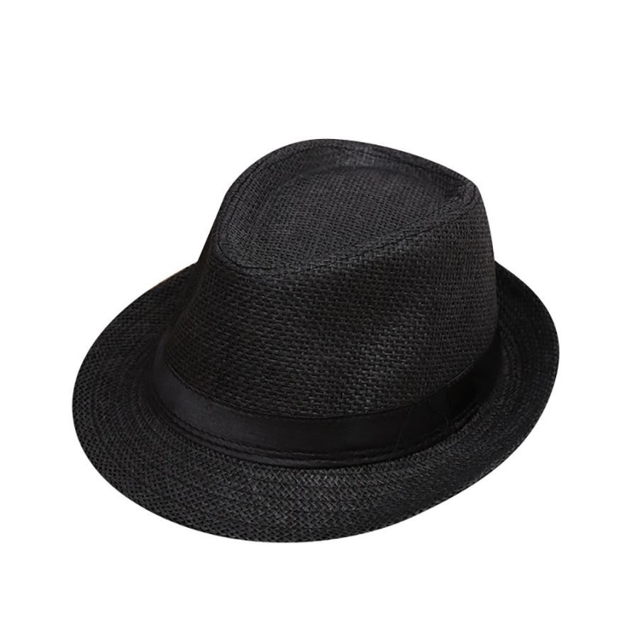 NewChildren Kids Summer Beach Straw Hat Jazz Panama Trilby Fedora ... 810de80b9799