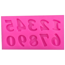 0 9 digital Shape fondant cake silicone moulds chocolate jelly pastry candy Clay cupcake decoration kitchen