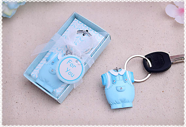 Baby Boy baby girl Keychain birthday party gift 100PCS/LOT baby shower baptism gift present Keepsake