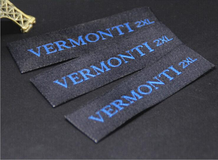 Customized 1000pcs lot garment private Woven Labels clothing collar damask end fold main label with obaologo