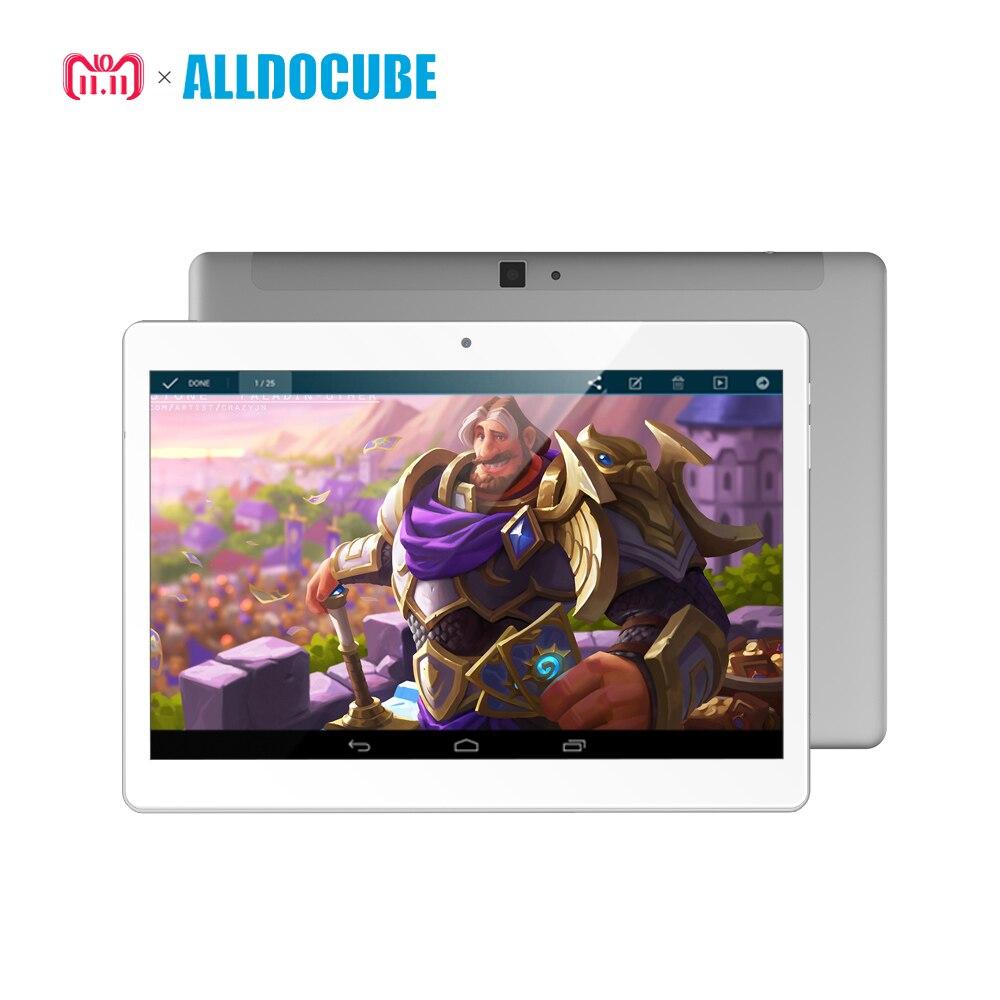 ALLDOCUBE 10.1 pouce 2560*1600 IPS 4g Appel Téléphonique Tablet PC Android 8.0 MTK X20 Deca core 4 gb RAM 64 gb ROM GPS WIFI Phablet M5