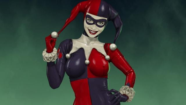 Harley quinn  3'Size Silk Fabric  wood frame poster