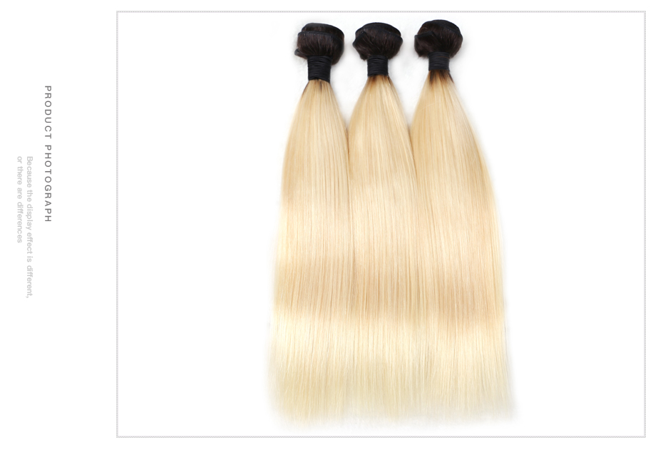 HTB1eGFeaOYrK1Rjy0Fdq6ACvVXay Facebeauty 1B/613 Honey Blonde Brazilian Straight Remy Human Hair 3 Bundles with Lace Closure,Blonde Ombre Bundles with Closure