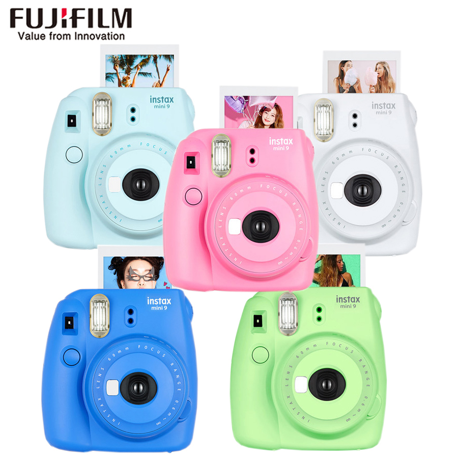 Original Fujifilm Fuji Instax Mini 9 Instant Film Photo Camera + 20 Sheets Fujifilm Instax Mini 8/9 Films 5 packs fuji fujifilm instax mini instant film monochrome photo paper for mini 8 7s 7 50s 50i 90 25 dw share sp 1 cameras
