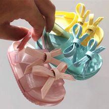 2020 summer new Mini Melissa soft Roman Sandals girls Jelly Shoes Children's anti skid Shoes Roman Kids jelly Sandals
