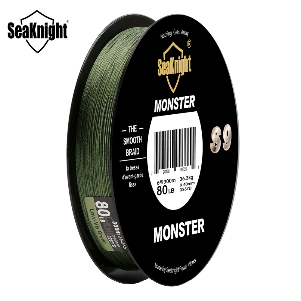 Image 5 - SeaKnight Monster S9 Braid Fishing Line 300M 20 To 100LB Strong Durable 9 Strands Smooth PE Line S Spiral Braided Tech Saltwater-in Fishing Lines from Sports & Entertainment