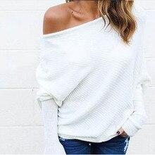 Off shoulder shirt women plus size long sleeve blouse shirt women top blouse shirt Loose feminine blouse summer top blusas 2017