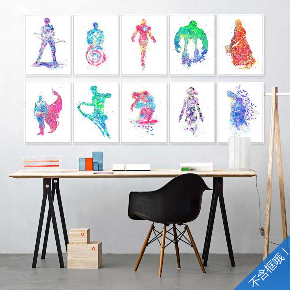 Marvel Heroes Picture Core  Captain America Ironman Hulk Decoration Movie Poster Spider-Man Canvas Painting Wall Art Home Decor