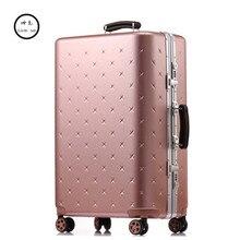 Kundui 20 «26» 29 дюймов Для мужчин Комплекты чемоданов сумка тележка чемодан/прокатки Spinner колеса тягой/женщина алюминий frame случай путешественник 4