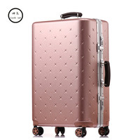 KUNDUI 202629 Inch Men Luggage Sets Bag Trolley suitcase/rolling spinner wheels Pull Rod/woman Aluminum frame traveller case 4