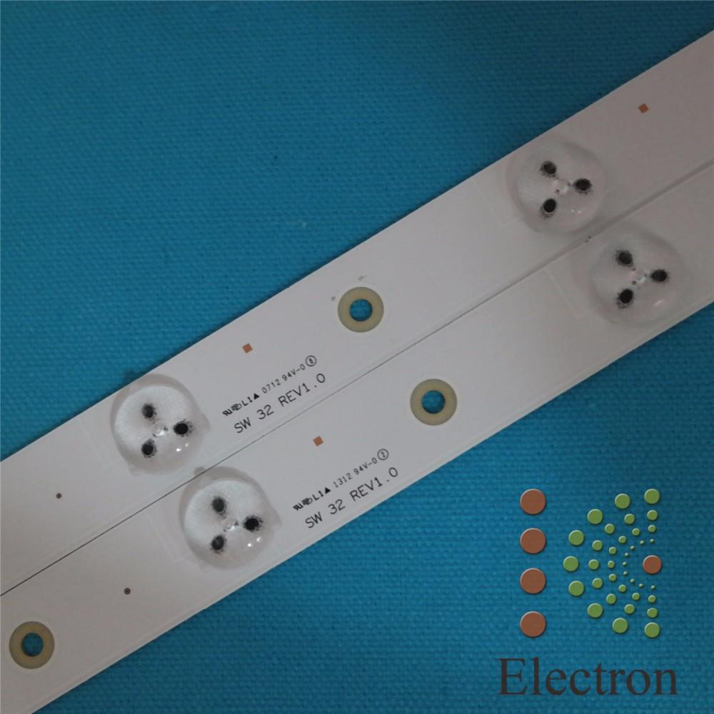 Prix pour 62 cm * 2 cm 8 lampe Générique bande rétro-éclairage LED mise à jour pour 32 ''TV, grand-taille LCD, panneau routier modification 5 pcs