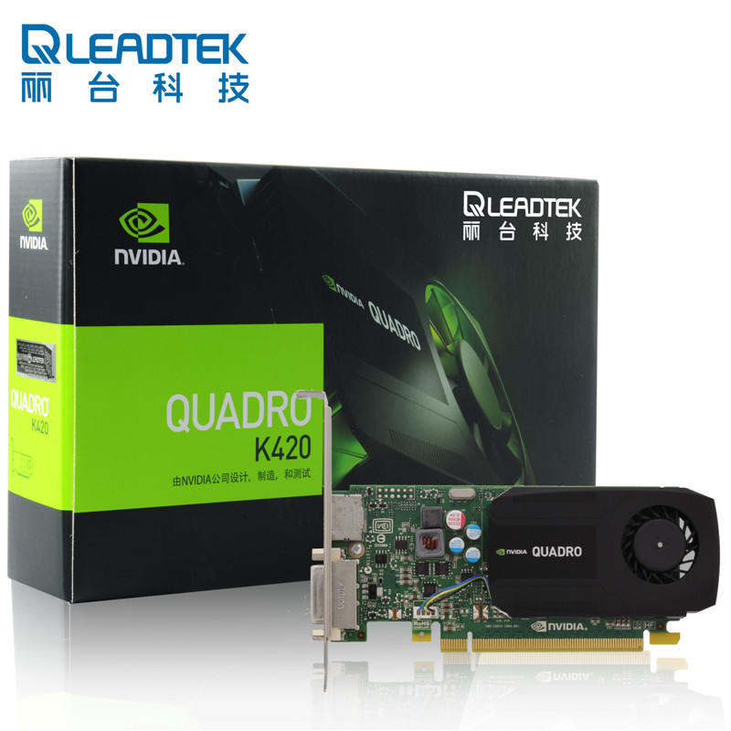 Leadtek Quadro K420 1G Graphics Workstation Professional Design Graphics Card Warranty For Three Years