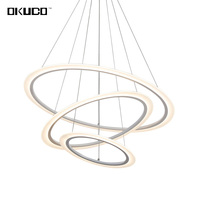 Modern Pendant Lights Dining Living Room House Decoration Rings Suspension Restaurant Ceiling Lamp Fixtures Hanging Luminaire