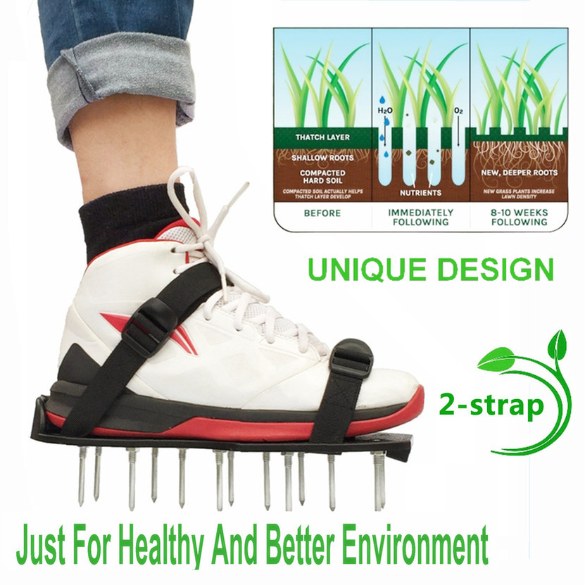 1 Pair Lawn Aerator Sandals Shoes Air Fertilize Water Yard Equipment Garden Tool New 2019 Drop Shipping