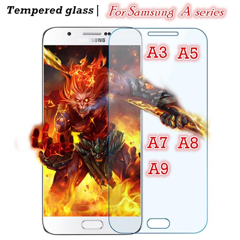 מזג זכוכית עבור Samsung Galaxy A3 A5 A7 2016 2017 2015 A8 A9 מסך מגן A320 A520 A520F A720 A720F a510 כיסוי מקרה 9 H