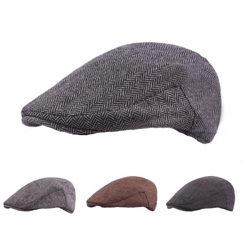 3c30e2f7b22 ... 4233549107 823495904 4233552008 823495904. HT1984 2018 New Berets  Autumn Winter Hats Men Women Beret Cap Patchwork Corduroy Wool Cabbie Ivy Newsboy  Flat ...