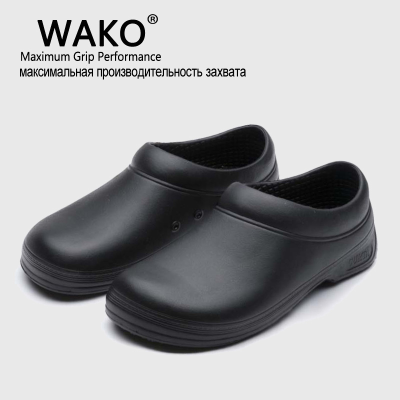 Wako Hot Sale Men Chef Kitchen Working Shoes Casual Flat Work Shoe For Unisex Cook Working Shoe