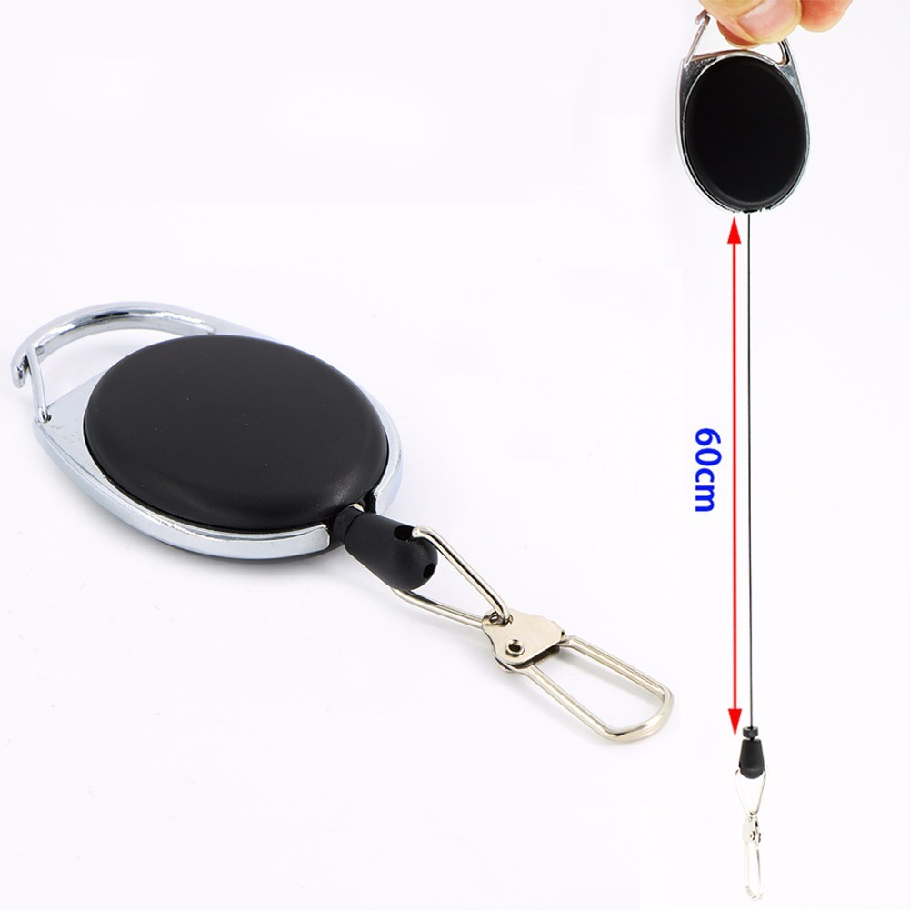 Fly Fishing Zinger Retractor Tools Extractor Stopper Keeper Retractable YOYO Key Chain Reel ...