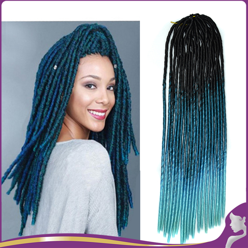 20 Strands Pack Soft Dread Lock Synthetic Hair Extensions Faux Locs