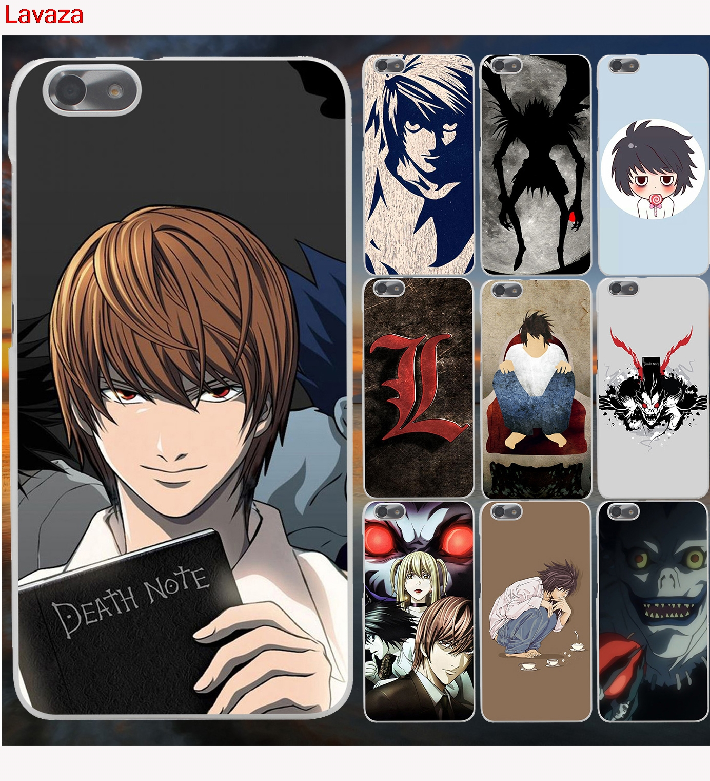 Lavaza Anime Death Note Hard Phone Case for Huawei P10 P8 P9 Lite ( 2015 2016 2017 ) Plus Honor 9 Lite