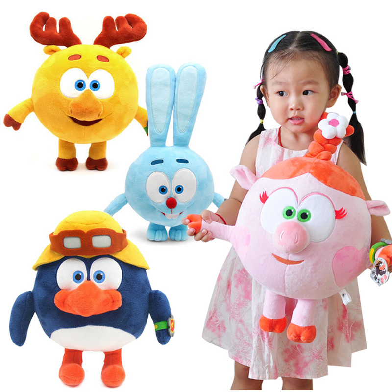 Cute Anime Gogoriki Soft Plush Toy for Baby Kids Cartoon Stuffed Smeshariki Plush Toys 3 Sizes plush ocean creatures plush penguin doll cute stuffed sea simulative toys for soft baby kids birthdays gifts 32cm
