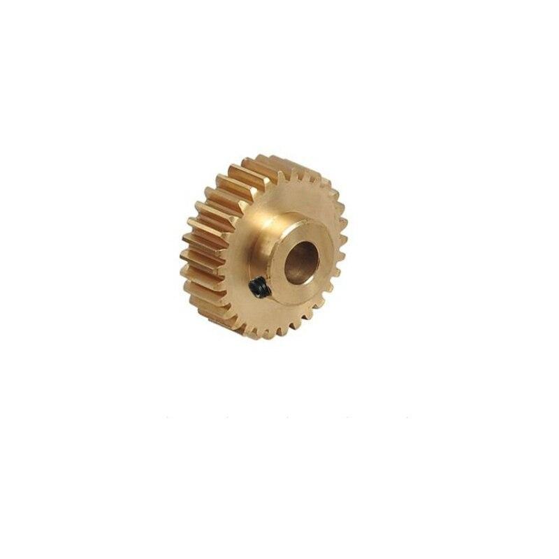 Free shipping 2pcs 0.5M 30T 31T 32T 33T 34T 35T 36T 37T 38T 39T Hole=3,3.17,4,5,6,6.35,7,8 mm convex Copper motors gear 2pcs metal differential driving gear 38t
