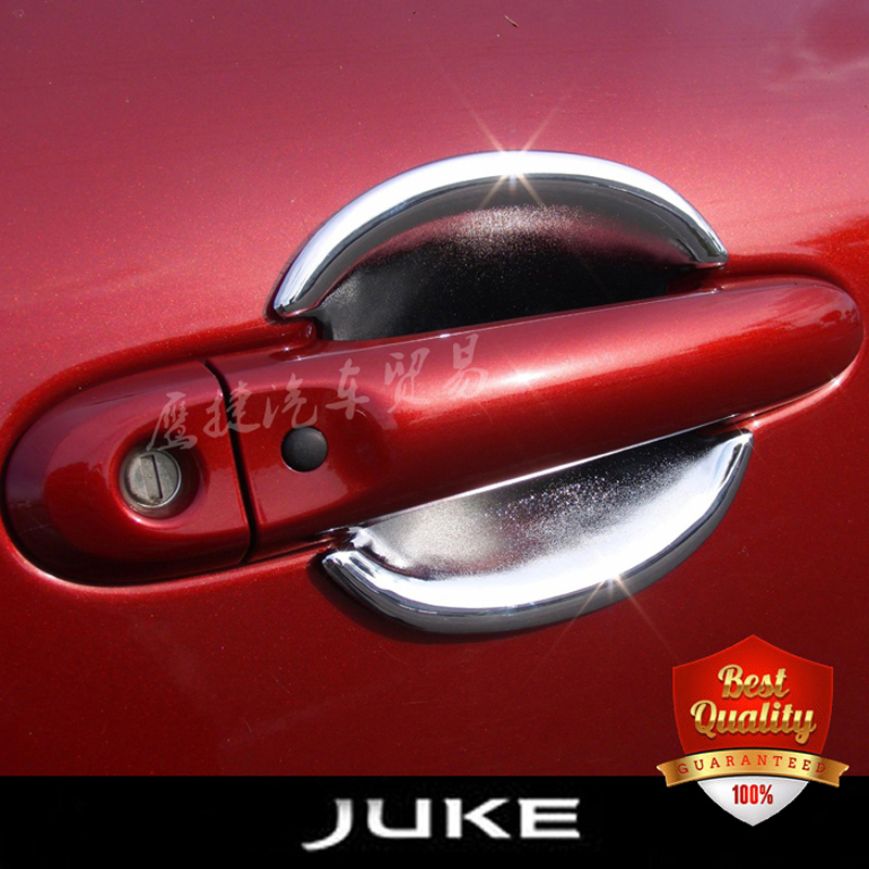 2pcs Door Handle Bowl for font b Nissan b font Juke 2010 2015 ABS Chrome Plated