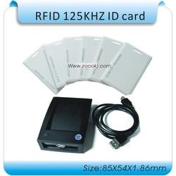 100 PCS EM4100 CARTÃO de IDENTIFICAÇÃO reação ID card cartão 125 KHZ RFID leitor de Cartão grosso + 1 porta usb