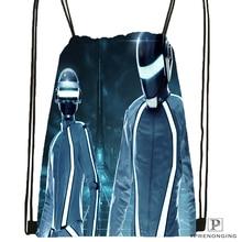 Custom Daft Punk Tron Helmets Drawstring Backpack Bag for Man Woman Cute Daypack Kids Satchel (Black Back) 31x40cm#180531-01-07