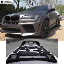 High quality E71 X6 LM Style FRP Unpainted Black Primer Auto Car Bumper For BMW E71 X6 Body Kits 08-15 стоимость