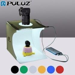 PULUZ 2LED Lightbox Light box Mini Photo Studio Box 1100LM Photography Light Studio Shooting Tent Box Kit with 6 Color Backdrops