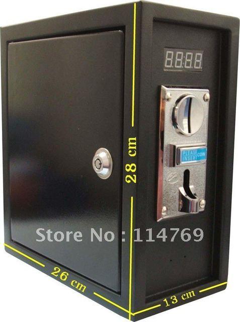 Монетная Управления Таймер коробка Питания для Управления 220 В электронное устройство с ЦИНКОВЫЙ СПЛАВ передней панели